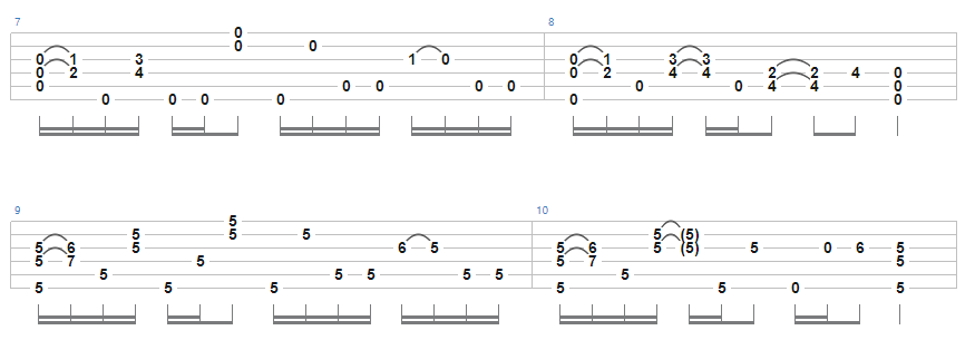 Guide to Open D tuning - Allman Brothers Band – Little Martha tab