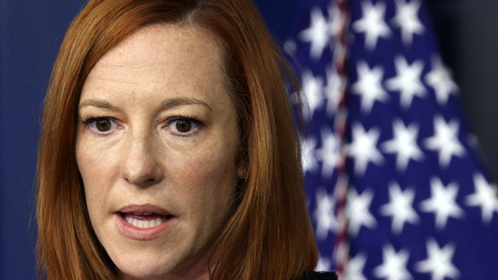 WASHINGTON, DC - SEPTEMBER 20: White House Press Secretary Jen Psaki speaks during the daily press briefing in the James S. Brady Press Briefing Room at the White House September 20, 2021 in Washington, DC. Psaki held the briefing to answer questions from members of the White House press corps.