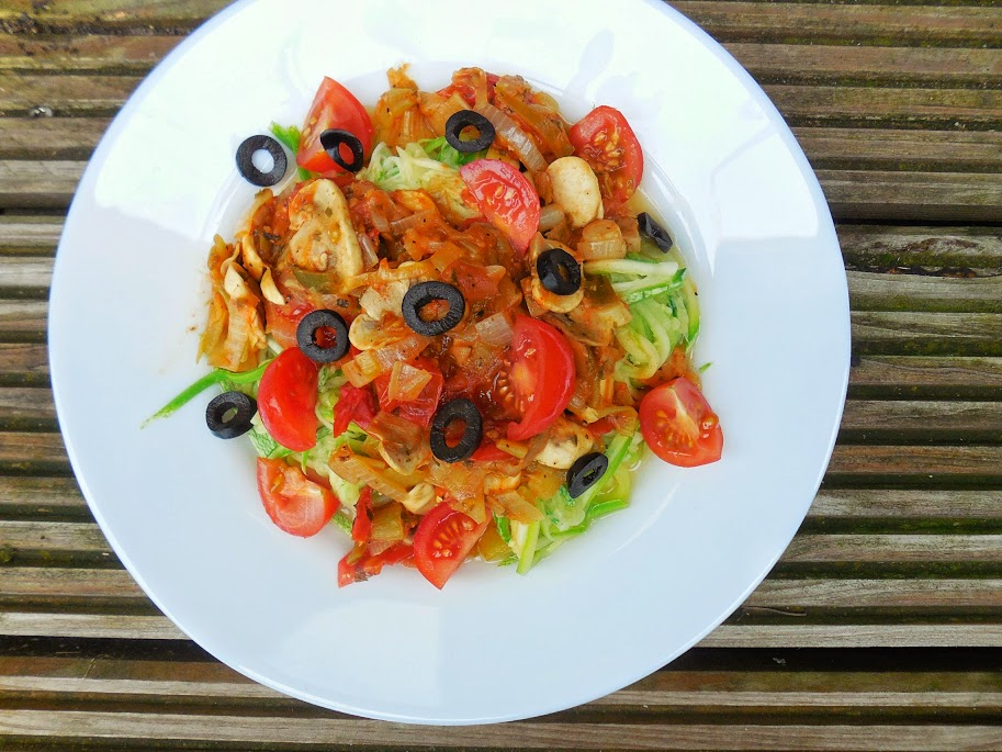 Paleo Pasta by Welcome to Mommyhood. This is one of the few ways that my son will actually eat zucchini and it's a quick and healthy pasta dish! #paleo, #vegan