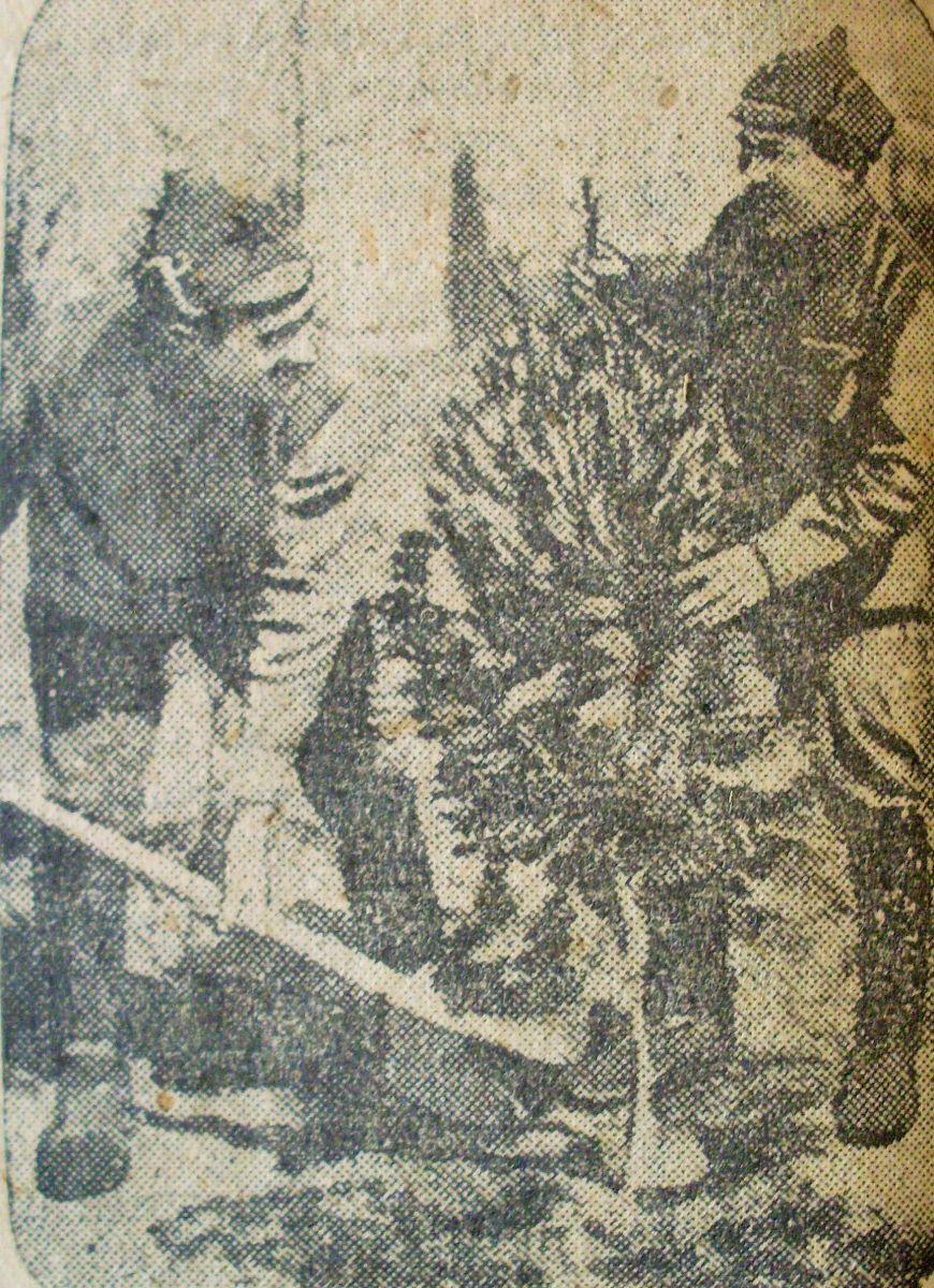 Червоноармійці «впорядковують» Кирило-Мефодіївський цвинтар – роблять з нього парк. Квітень 1935-го