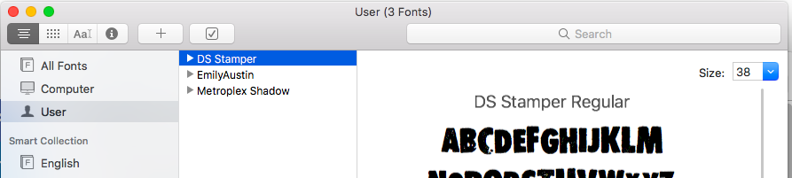 New font is installed on your Mac
