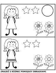 Znajdź różnice między obrazkami, ilustracjami, edukacja