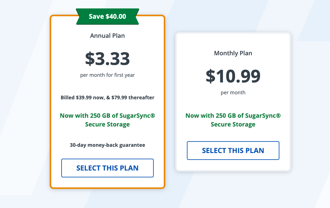 StrongVPN pricing and plans