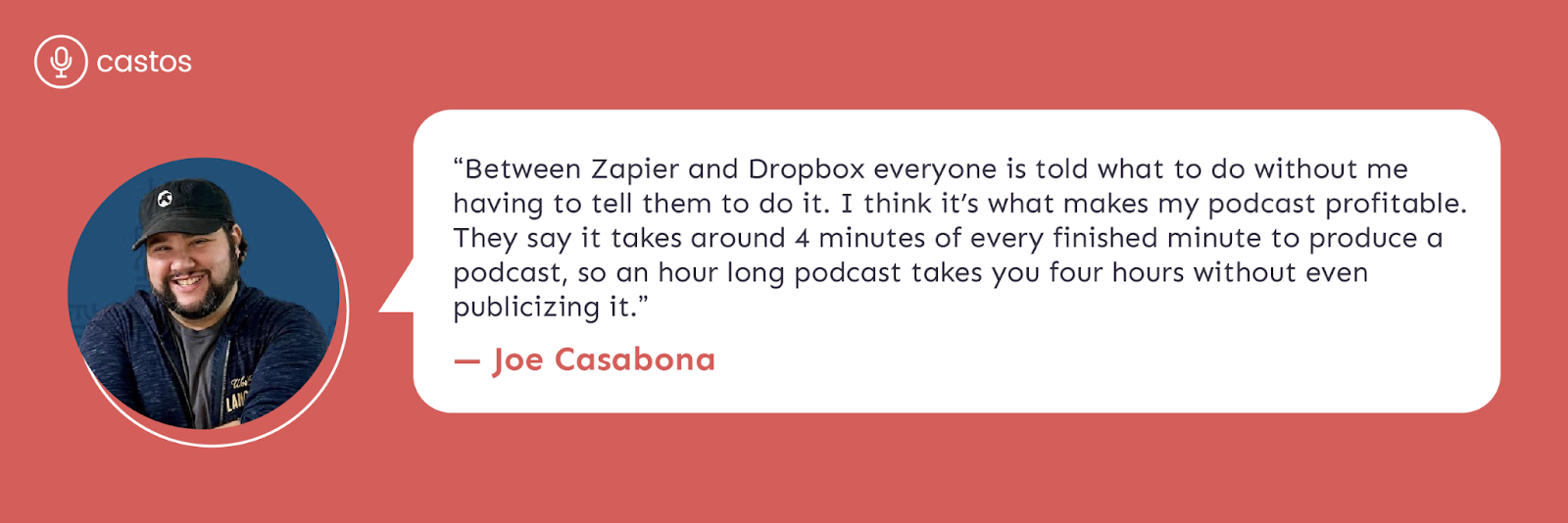 Joe Casabona Zapier testimonial