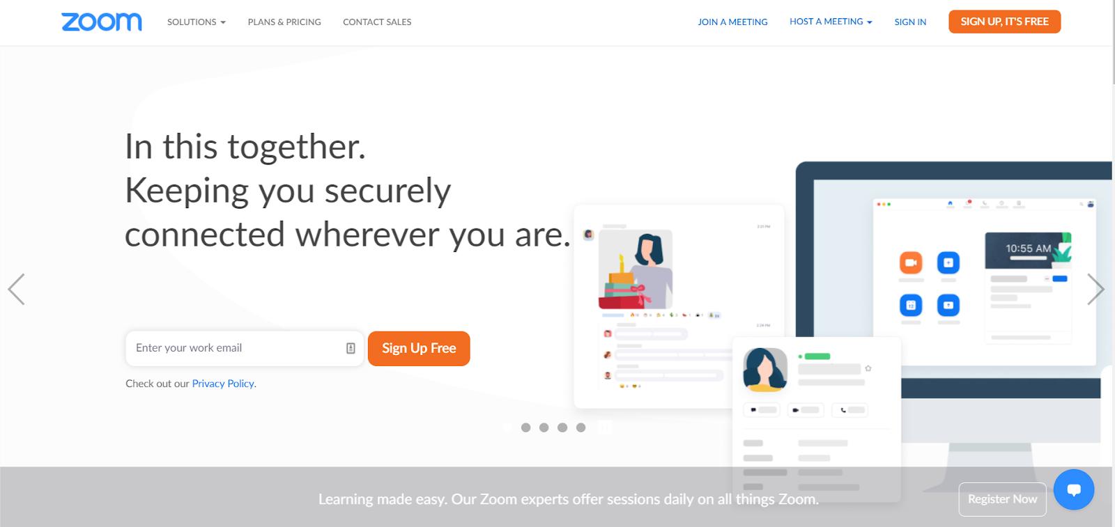 Zoom product marketing