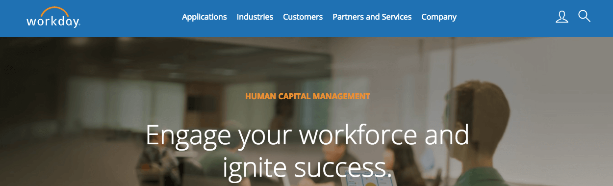 Workday from Salesforce - HR Management software app - SAAS