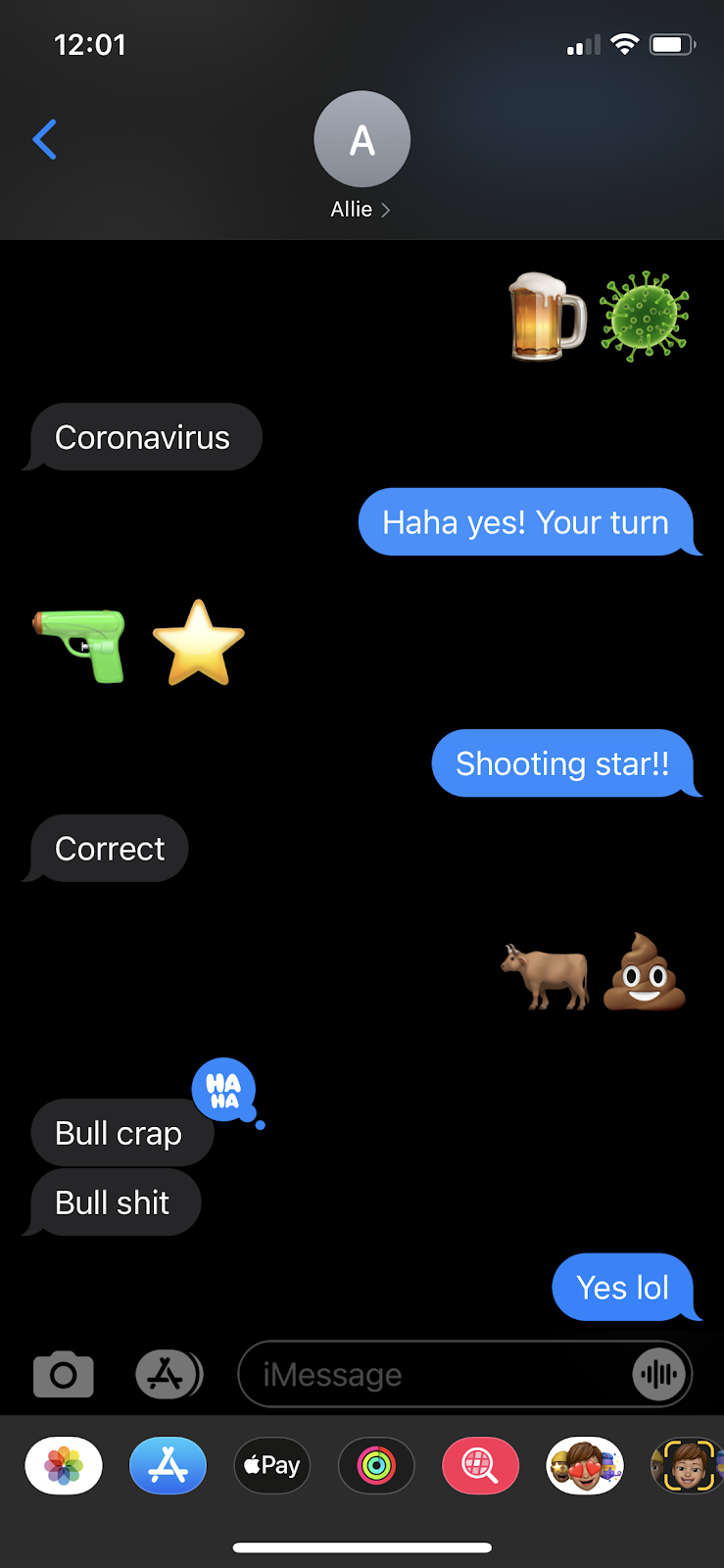 best texting games, image of people using emoji over text to guess what people are sayin