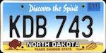 Image of the North Dakota state license.