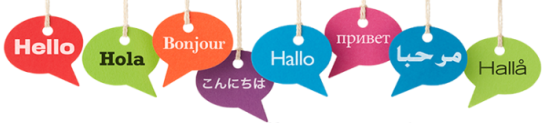 """graphic showing """"hello"""" in different languages"""