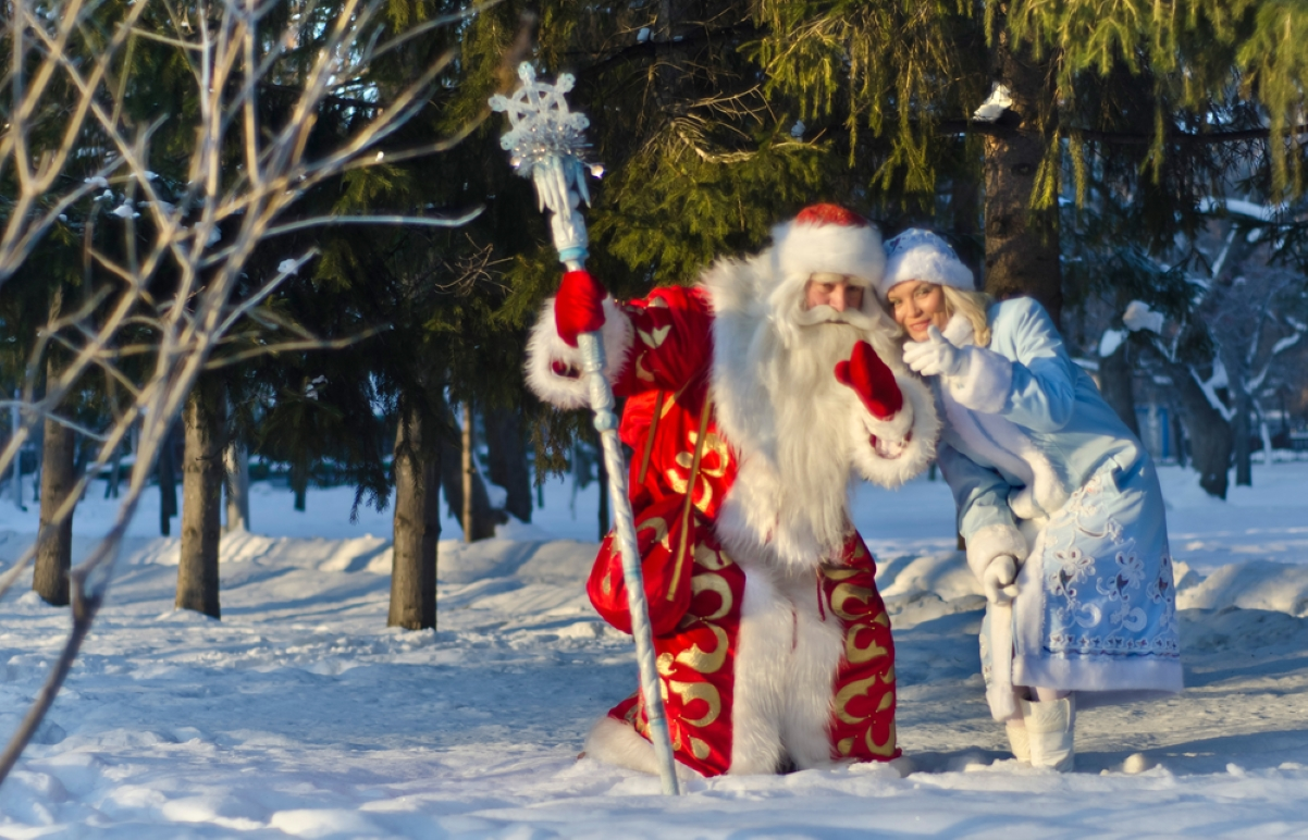 Ded Moroz y Babushka en Rusia