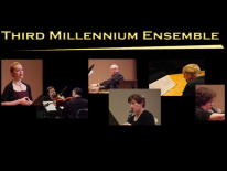 Third Millennium Ensemble and multiple photos of musicians