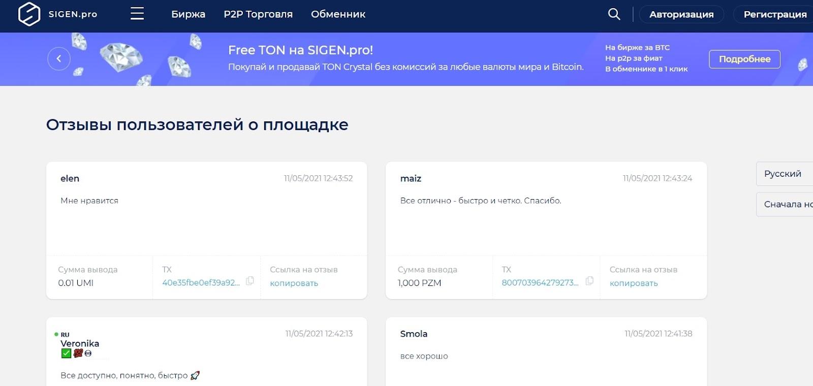 Объективная оценка криптобиржи Sigen: обзор условий, отзывы