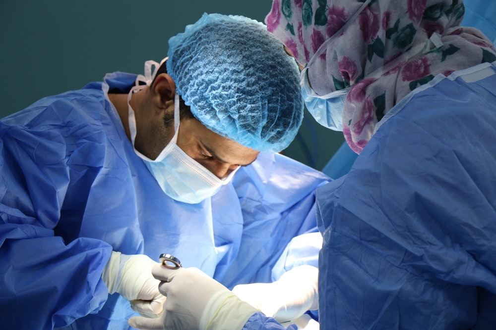 doctor having operation