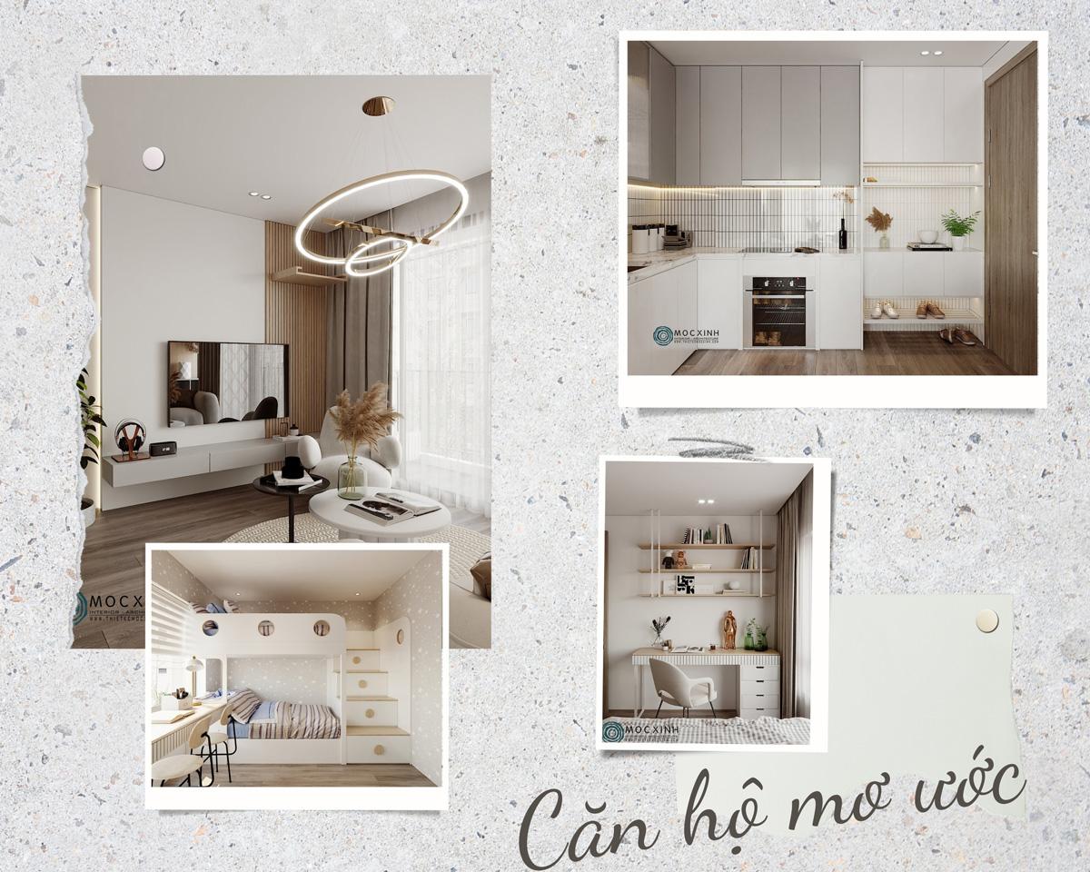 Mẫu thiết kế nội thất căn hộ mơ ước