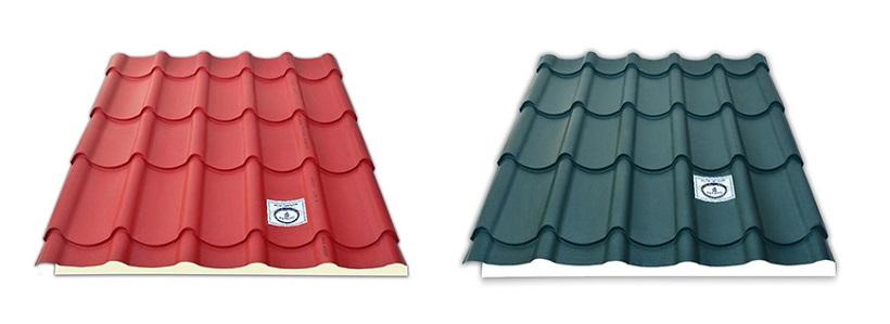 Tôn lợp mái cao cấp Olympic kim cương gồm 2 màu: đỏ kim cương và xanh đen kim cương