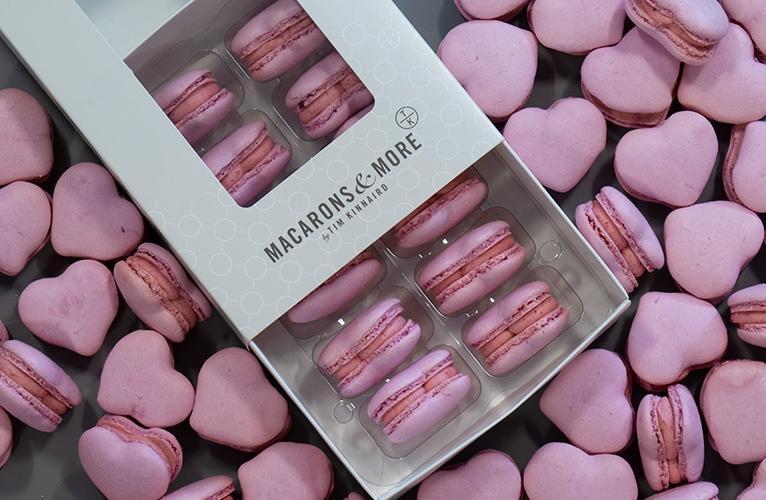 raspberry-heart-shaped-macarons