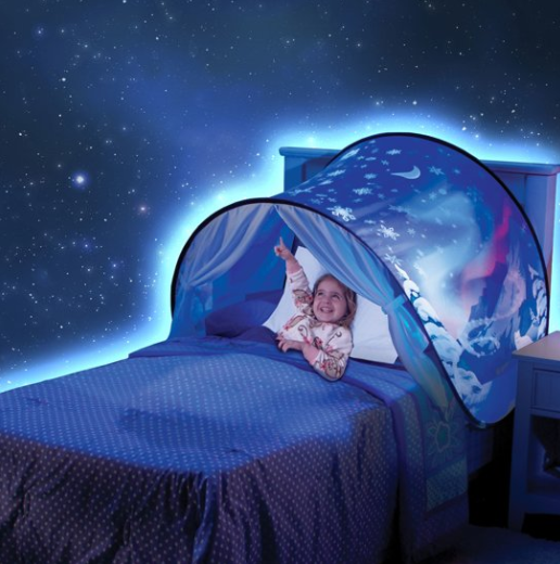 Spielzelt über deinem Bett