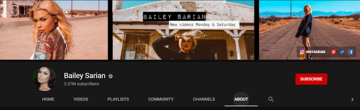 Bailey Sarian YouTube Channel
