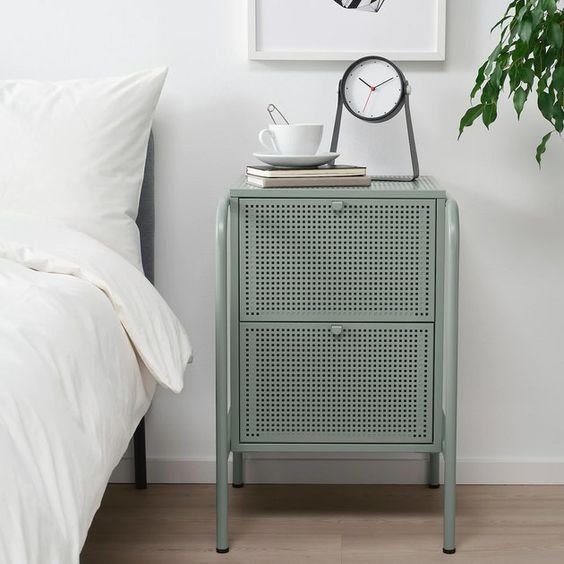Nightstand with cane webbing style