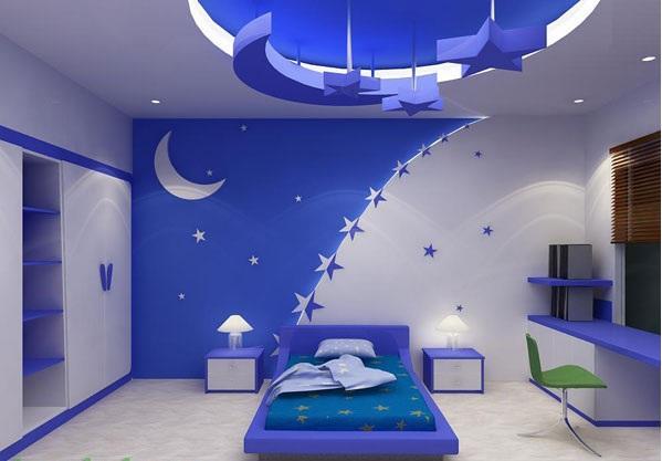 Mẫu trần thạch cao phòng ngủ không gian mở là 1 gợi ý cực kỳ tốt