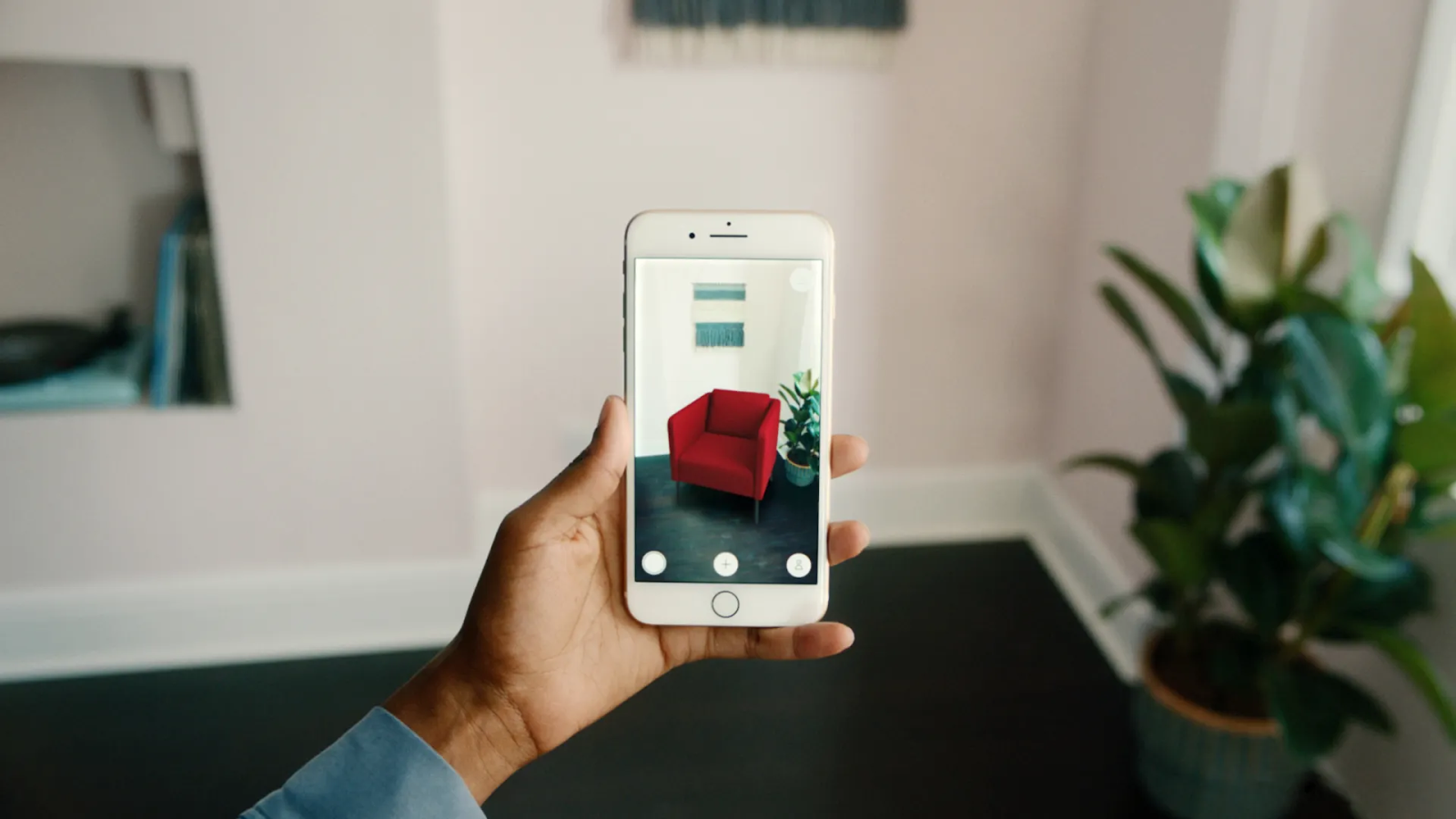 visualising an armchair with AR in the room