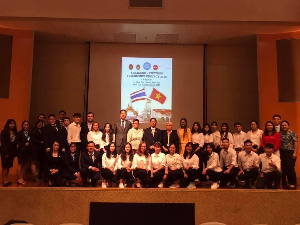 Sinh viên Phân hiệu ĐH Thái Nguyên tại tỉnh Lào Cai tham gia Dự án giao lưu thanh niên Việt Nam – Thái Lan năm 2019