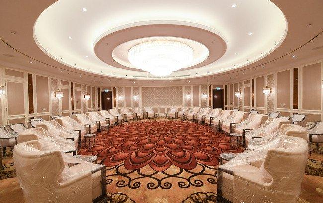 Tổng diện tích phục vụ hội nghị của khu nghỉ dưỡng này là trên 3.300 m2