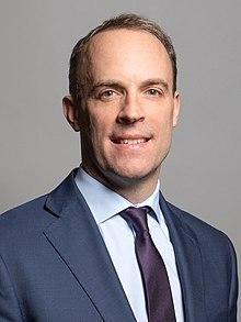 Portrait photograph of Dominic Raab aged 46