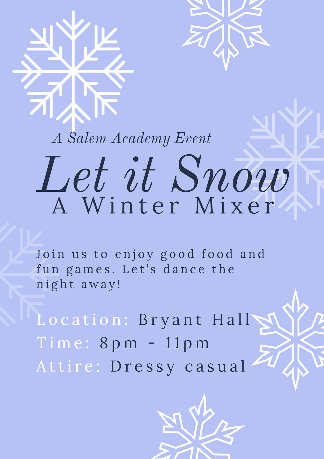 Winter Mixer Flyer