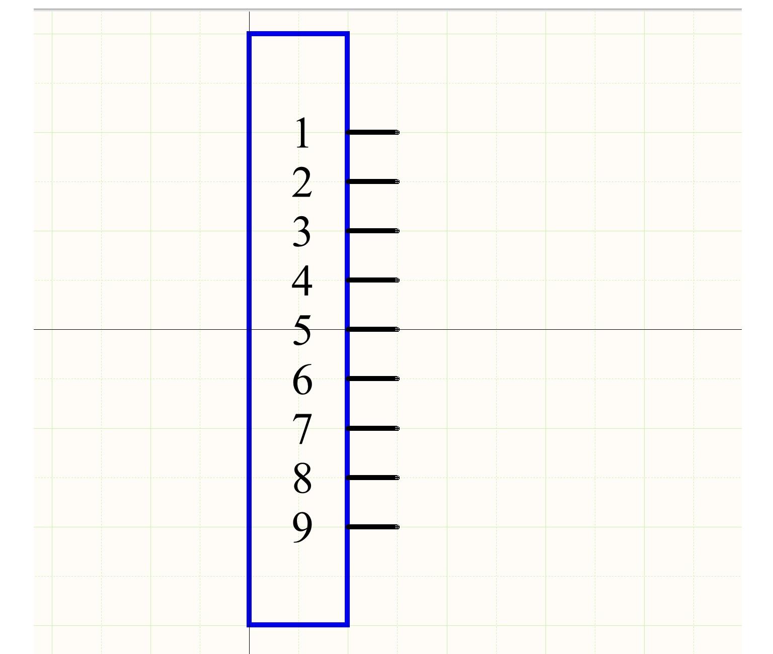 Alt text: Figure 2.  Symbole schématique du connecteur dans un logiciel de dessin industriel.