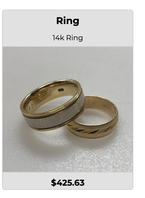 selling gold wedding band