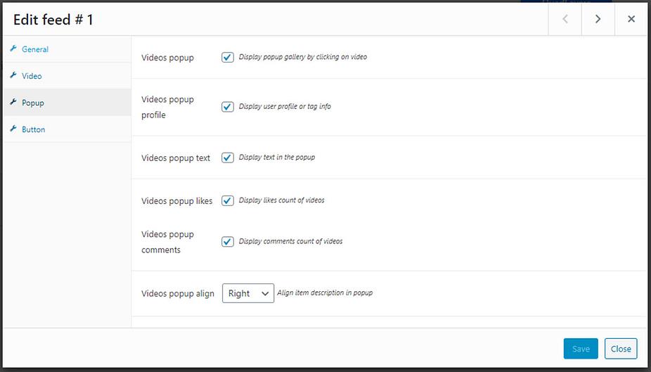 cửa sổ bật lên cho TikTok WordPress