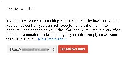 Google's Disavow Link Tool
