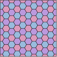 hexagonal tiling