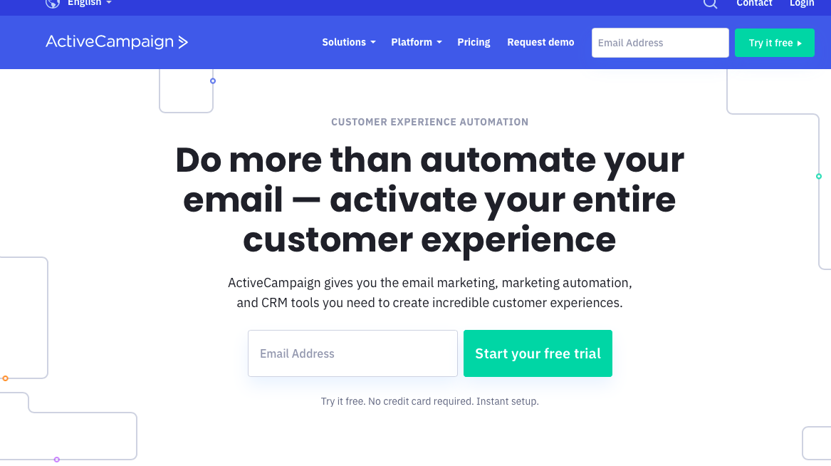 ActiveCampaign - best email marketing software for online stores
