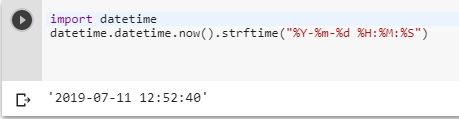 Python datetime to string without microsecond component