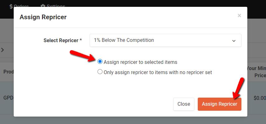 Assign a Repricer