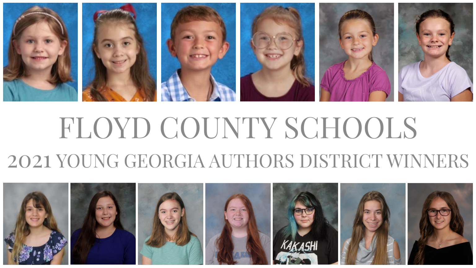 FCS Announces District Winners in Young Georgia Authors Writing Competition