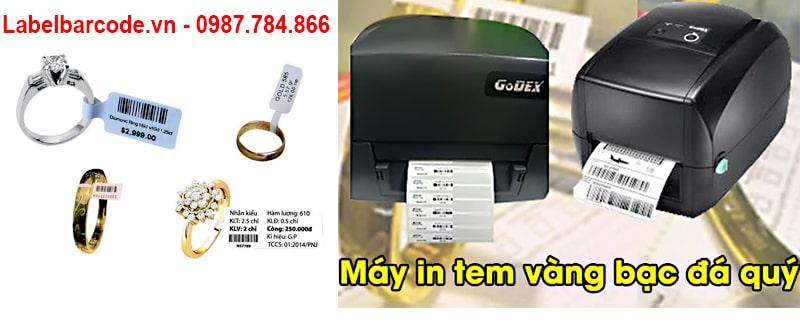 Dòng máy Godex in tem vàng, tem trang sức luôn sẵn hàng tại An Thành