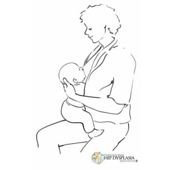 breastfeedding position called the sitting straddling position