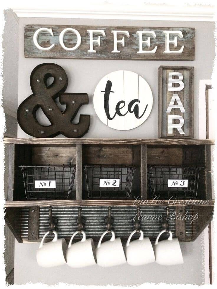 Coffee Station Wall