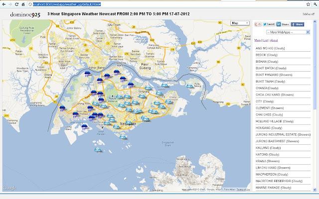 Singapore Weather Nowcast