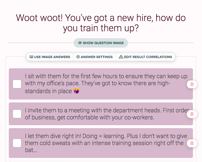 how do you handle a new hire quiz question