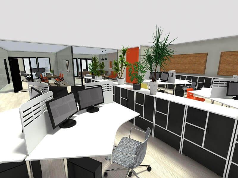 Mẫu thiết kế nội thất văn phòng thông minh
