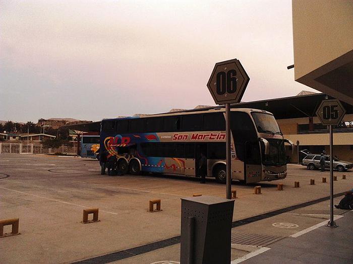 Amplio espacio para la llegada de los buses en el Terminal Moquegua