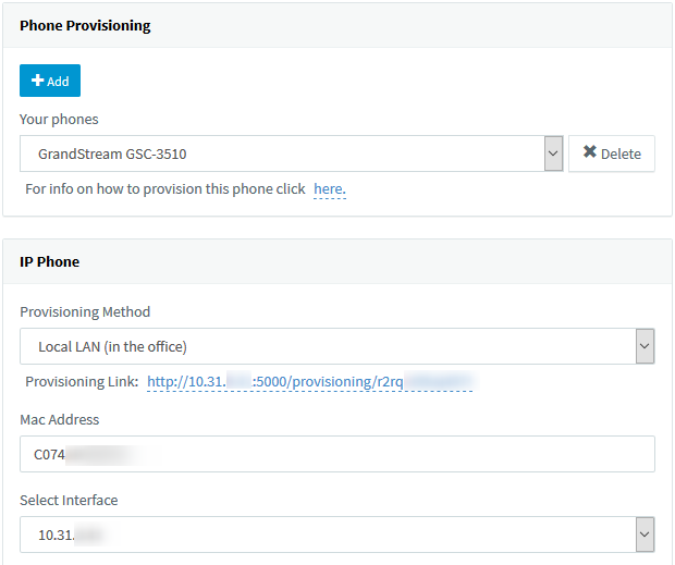 Set new phone provisioning options in 3CX Management Console > Phones.