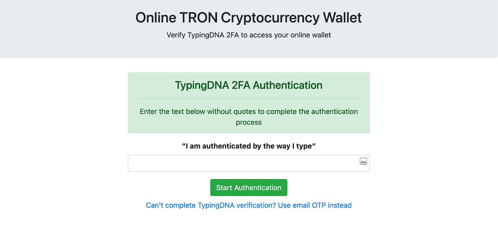 Secure your Cryptocurrency Wallet with TypingDNA
