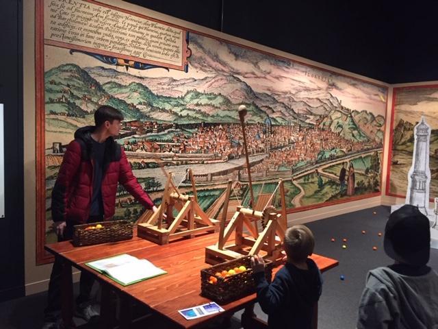 C:\Users\Susan\Documents\Susan\Work\Denver Parent Magazine\Articles\Da Vinci Exhibit\Catapult pic.JPG