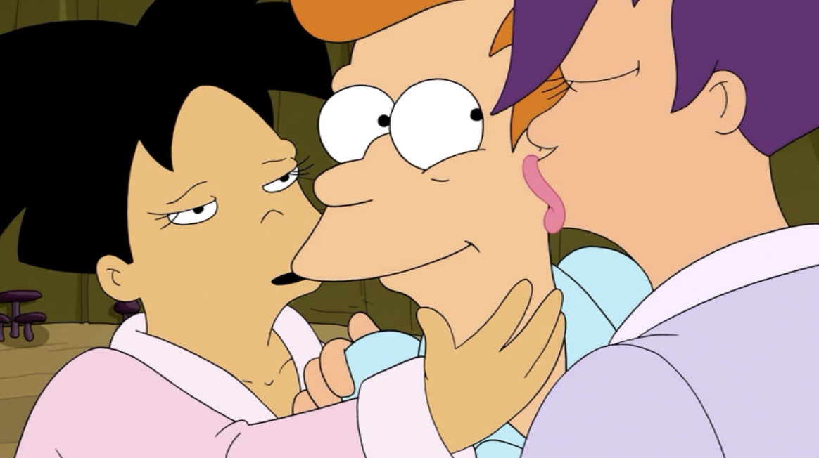fry and leela in bed