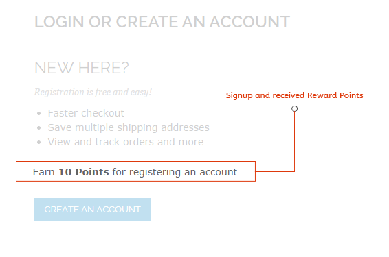 Reward for new customer signup